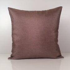 Light Purple Decorative Throw Pillow Cover - Linen Blend Silver Sparkles