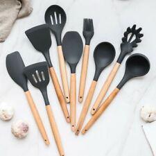 Spatula Wooden Handle Soup Ladle Colander Cooking Utensils Shovel Kitchen Tool