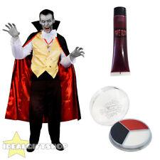 Adultos Vampiro De Halloween Vestido Elegante Para Hombre Camisa Traje de Disfraz de sangre pintura de la cara