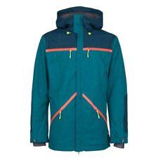 New O'Neill Men's Quest Snowboarding Jacket Green Blue M 550004C Medium