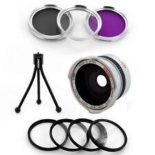 30.5mm Wide Fish Eye Lens,filter,Macro for JVC Everio GZ-MG40,MG435,MG50,US