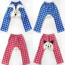 Adorable Boy or Girl Toddler Cat Bunny Blue Pink Checker Print Legging Pants USA