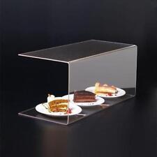 clear acrylic sneeze screen food guard cake display screen sneeze guard U shaped