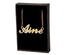 Chapado En Oro Con Collar de nombre « a » Regalos Personalizados-Aine | Alison | Andrea | Anne