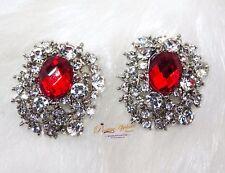 Big Stud Earring Red Black Blue Earring Jewellery Gift For Ladies
