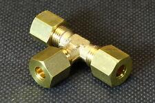 2x T-Klemmringverschraubung T-Stück für Rohr / Kupferrohr 4mm 5mm 6mm 8mm 10mm