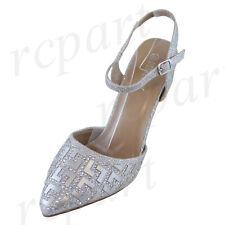 New women's shoes evening rhinestones buckle closure high heel wedding Silver