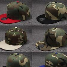 Camo Camouflage Baseball Cap Hip Hop Hat Flat Snapback Fashion Unisex B