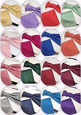 Childrens Boys  UK Designer Cravat Scrunchie  Pocket Square Dupion Luxury