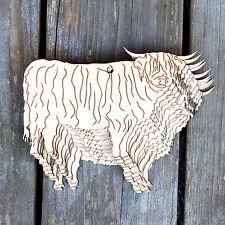 10x de madera Highland Toro de pie Animal de madera contrachapada 3 mm formas artesanales Corral Vaca