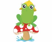 Lustiger Frosch mit Hut Aufkleber Sticker Autoaufkleber Scheibenaufkleber