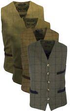 Walker and Hawkes Mens Tweed Check Waistcoat FORMAL Teflon Dress Gilet Sage Gree