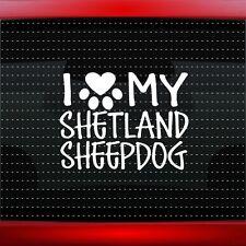 Sheltie Whisperer Sticker J834 6 inch shetland sheepdog decal