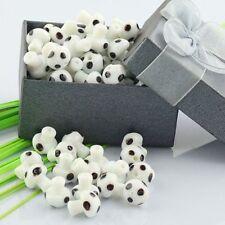 Wholesale White Lampwork Glass Crystal Glass Mushroom Charms Loose Beads