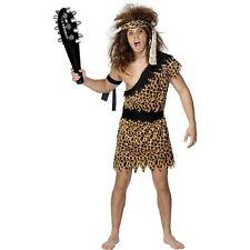 Prehistoric Crazy Jungle Caveman Stoneage Novelty Mens Fancy Dress Costume