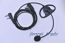 D-Shape PTT Headset Mic for Kenwood Puxing WEIERWEI Wouxun Baofeng with boom mic