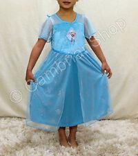 Licensed Frozen Elsa Deluxe Nightgown Nightie Nightdress Dress 3 4 5 6 7