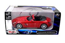 MAISTO  MERCEDES BENZ  SLS AMG ROADSTER RED 1/24 DIECAST CAR