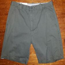 31932e93e9 Men's Sun River Dark Olive Green Flat Front Chino Shorts Sizes 30, 32, 34