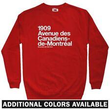 Montreal Hockey Stadium Men's Sweatshirt - Crewneck S-3X - QB Canadiens Quebec
