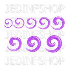 Ear Taper Lobe Stretcher - Spiral Snail | 1.6mm-10mm | Lilac Solid Acrylic