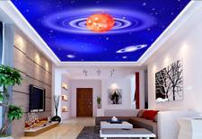 3D Orange Planet Ceiling WallPaper Murals Wall Print Decal AJ WALLPAPER US