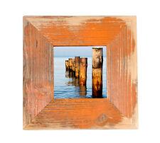 Bilderrahmen aus echtem Alt-Holz im Landhaus-Stil vintage, rustikal Orange