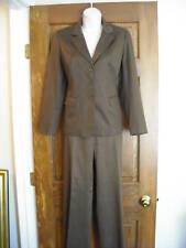 Talbots Petit Stretch Brown Jacket Slacks Pant Suit 6 8