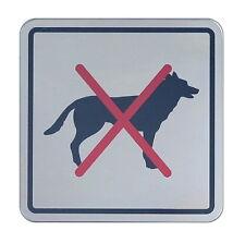 Hundeverbot-Edelstahl-Schild-12x12-Warnschild-Hinweisschild-Hund-Tiere-Wachhund