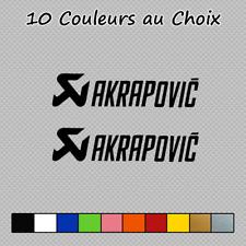 2 Stickers Akrapovic Decal Moto Voiture Accessoires AKR03 Couleurs au choix