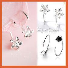 e9b36cc8e3235 Diamond Hoop Stone Fashion Earrings for sale | eBay