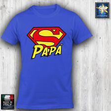 T-shirt Uomo SUPERPAPA' SUPERMAN Festa del Papà Simpatica Divertente Idea regalo