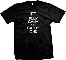 Keep Calm And Carry One Handgun Gun Firearm 2nd Amendment Rights Mens T-shirt