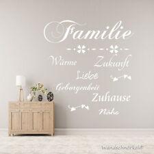 Wandtattoo  AA037 Familie Zuhause Liebe Spruch Wohnzimmer Diele Wandaufkleber