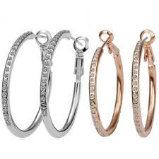 Orecchini ad anello strass pendenti a cerchio con 3,4 OCM goldoder Argento