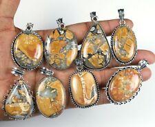 Wholesale Lot !! Natural Maligano Jasper Gemstone Silver Plated Pendant Jewelry