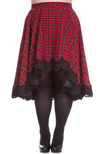 Spin Doctor Red Royal Stewart Tartan Lucine High-low Flare Circle Skirt