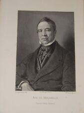 Portrait ACHILLE de VAULABELLE MINISTRE EDUCATION 1848 CHATEL SENSOIR YONNE