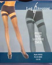 Leg Avenue Fashion Lycra Fishnet Thigh-High Black Stockings Plus Size
