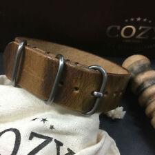 Handmade Military 102 Italian Leather ZULU / NATO Strap (20mm, 22mm, 24mm, 26mm)