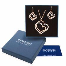 Parure oro bianco Swarovski Element originale G4Lov cristalli cuori donna regalo