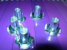 Paquetes De 10 M5, M6, M8 M10 --- 4 clavijas T Nuts (cautivo) B Z P (Bright Zinc Placa)