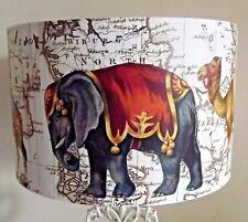 MAPPA degli Elefanti Paralume, Cammello, Zebra, giraffa, vintage shabby chic, regalo gratuito