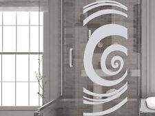 Glasdekor Folie Fensterdekor für Badezimmer Kreise Spirale Rund Glastür