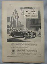 1950 Humber 8-seater Pullman Limousine Original advert