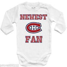 Baby bodysuit Newest fan Montreal Canadiens, NHL, UNISEX One Piece jersey