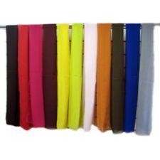Large Plain Coloured Chiffon Feel Sheer Fashion Neck Head Scarf 100% Polyester