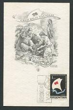 Argentina MK 1959 RED CROSS maximum carta carte MAXIMUM CARD MC cm a4064