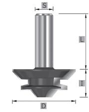 HW-(HM) Gehrungs-Verleimfräser Z=2 MAN geeignet Schaft 8/12 mm SK1222 Fräsen