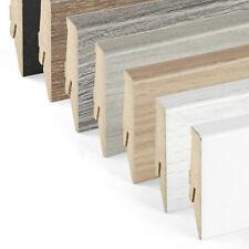 Sockelleisten Holzdekor 58mm - 7 Farben - ab 10 Meter MDF Laminatleisten